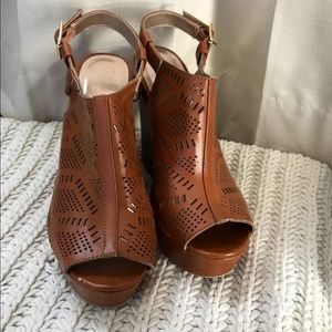 Brown Charlotte Russe Wedges - Size 8